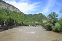 Rzeka w Borjomi w Gruzji