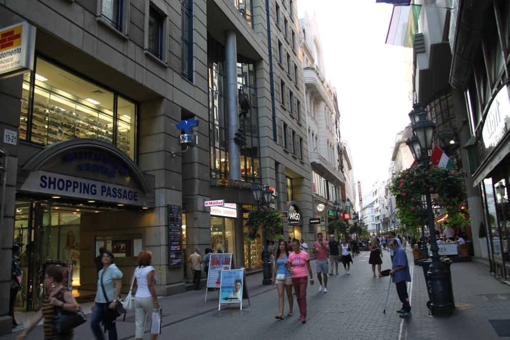 Vaci utca w Budapeszcie