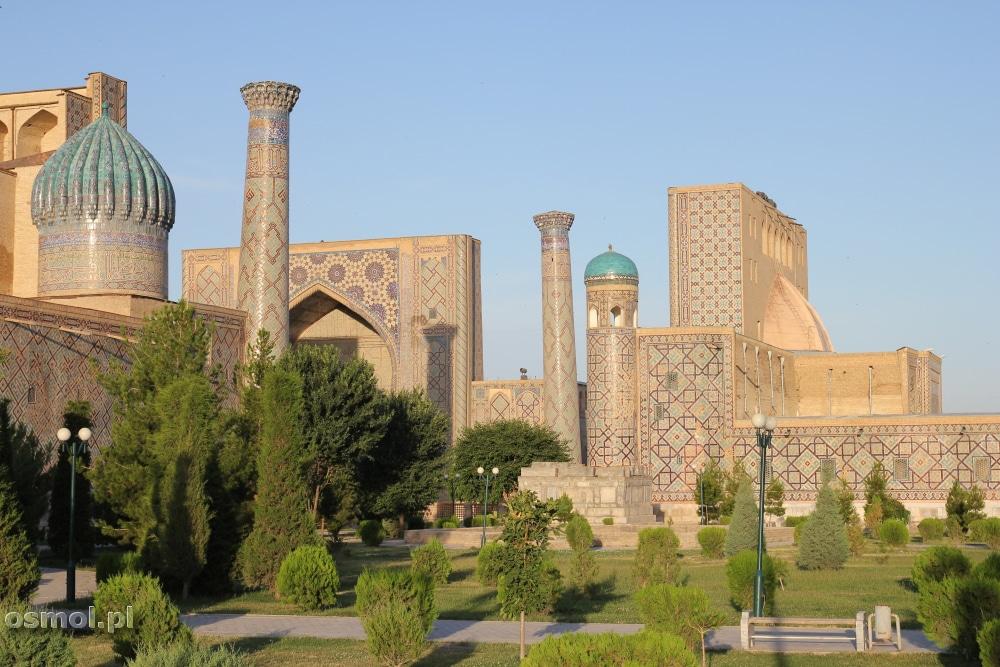 Registan Samarkanda Uzbekistan - panorama