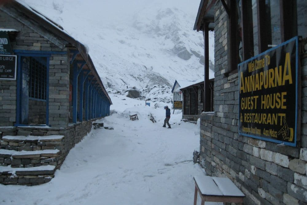 Annapurna Base Camp lodge do spania
