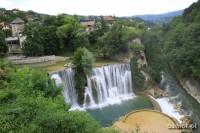 Jajce. Wodospad. Bośnia i Hercegowina