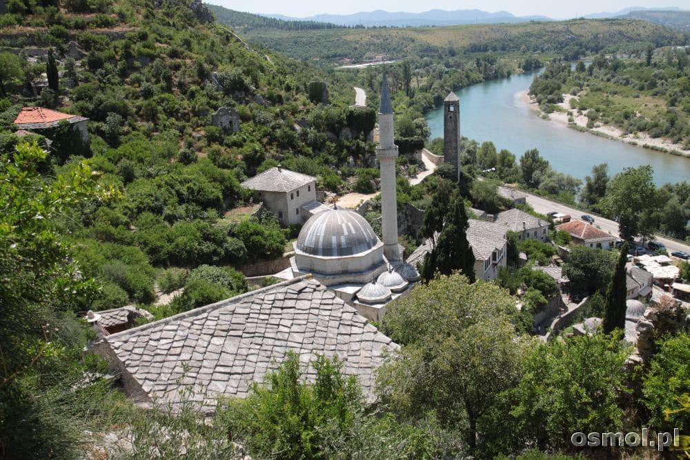 Pocitelj - widok na miejscowość, meczet i rzekę