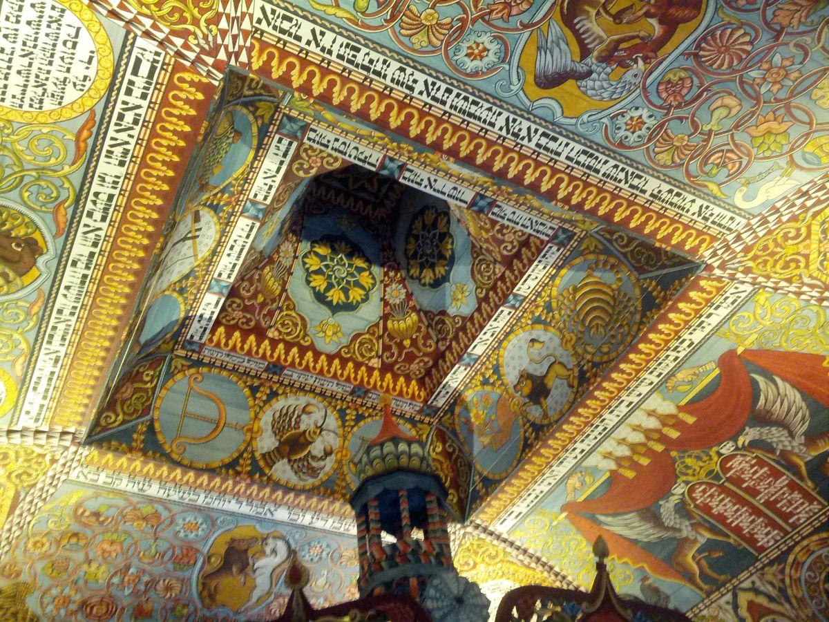 Drewniana rekonstrukcja synagogi w Gwoźdźcu.