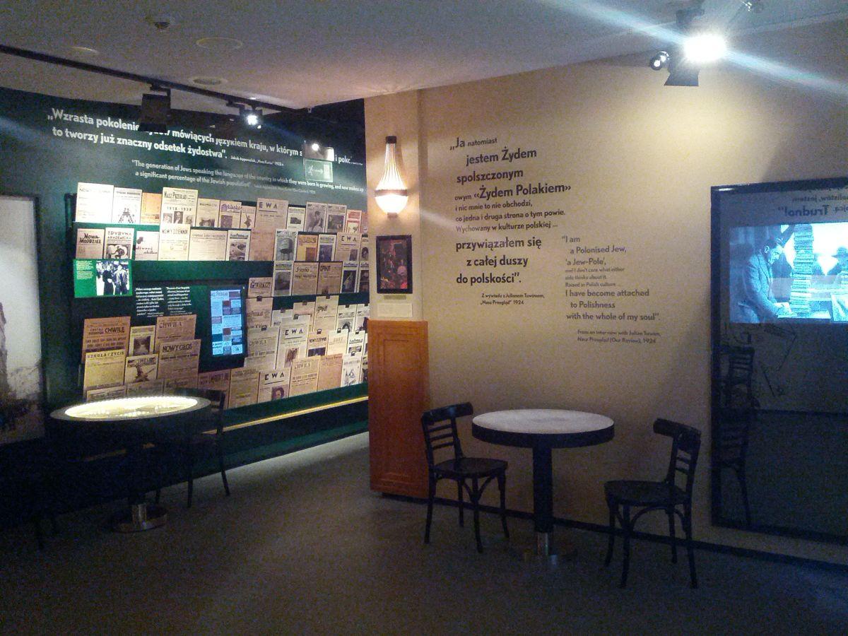 Kawiarnia rodem z II RP zrekonstruowana w Muzeum Żydów w Warszawie