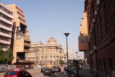 Belgrad. Ministerstwo zbombardowane przez wojska NATO