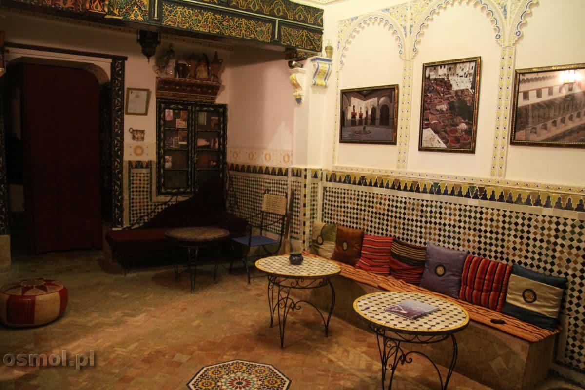 Wnętrze riadu. Maroko