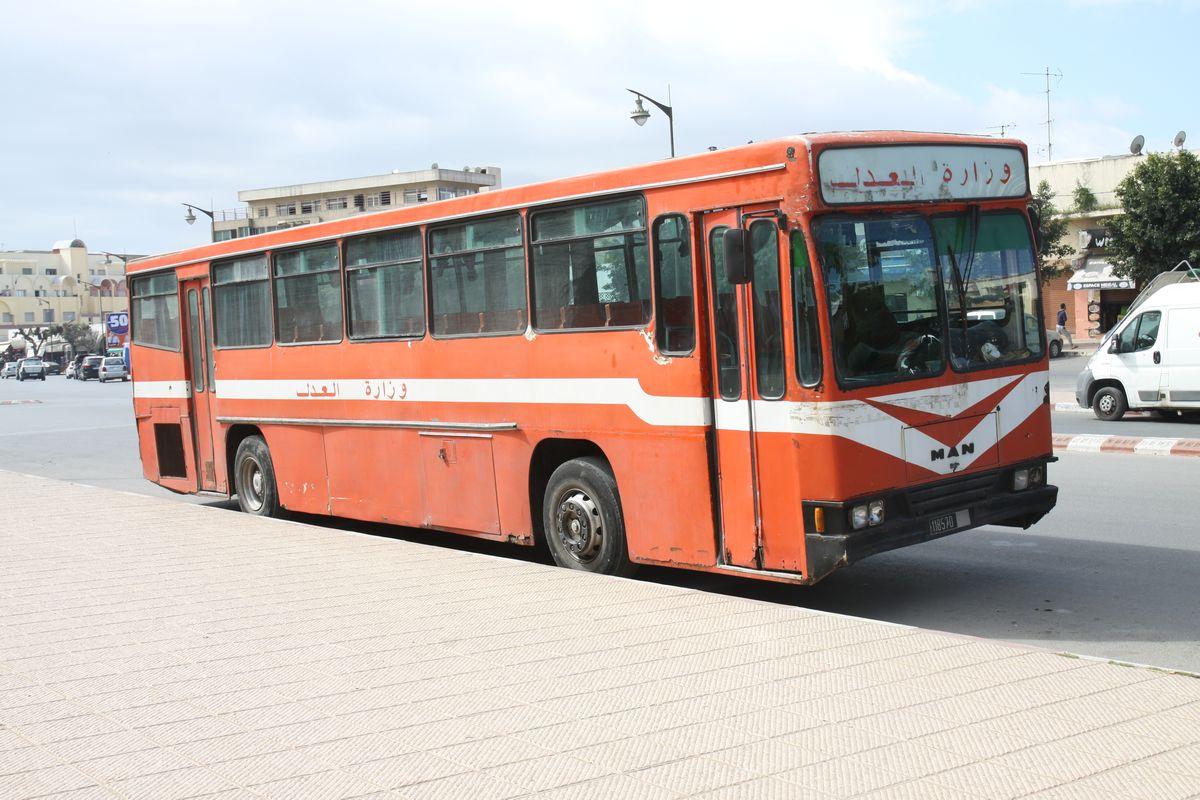 Lokalny autobus w Maroku